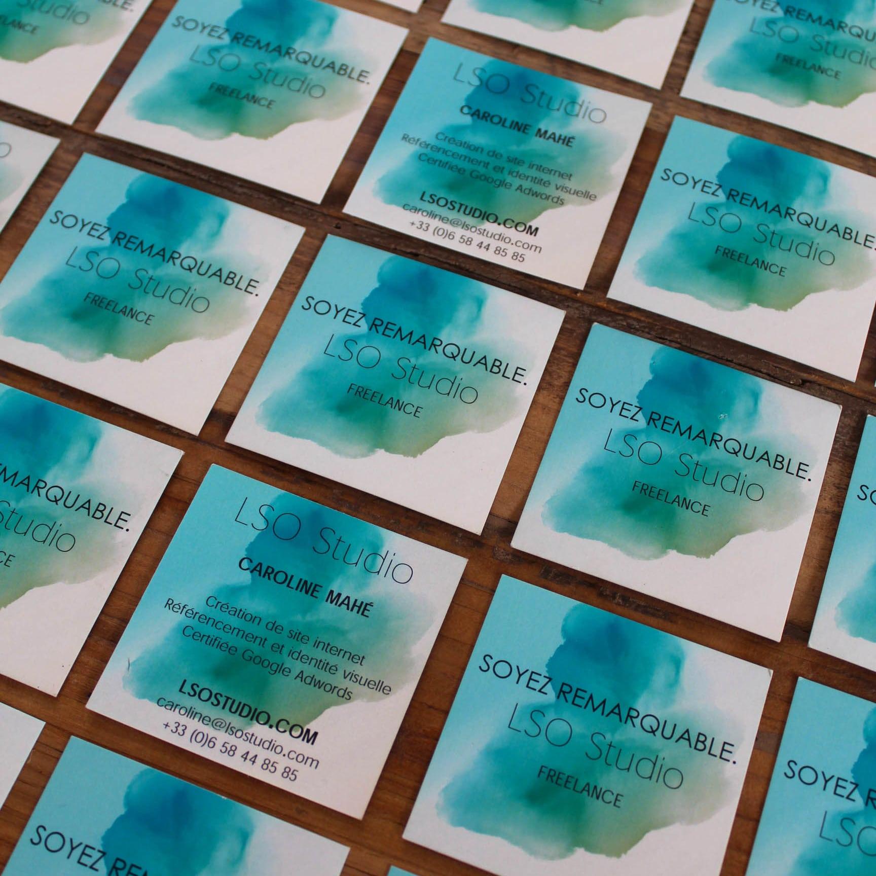 création graphique vendée, vos cartes de visite par LSO Studio