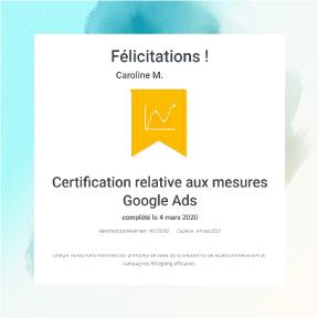 Consultant adwords certifié Mesures Google ads