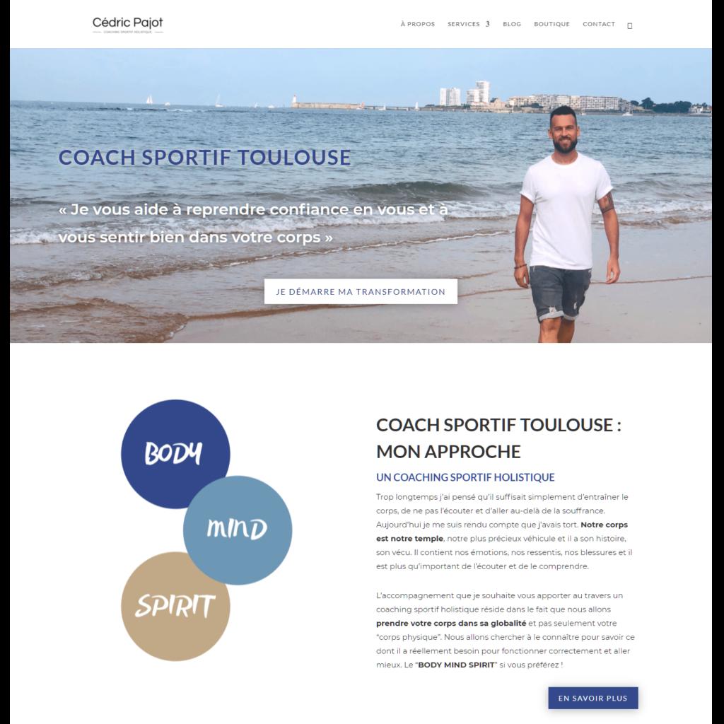 Cédric Pajot, Coach sportif à Toulouse